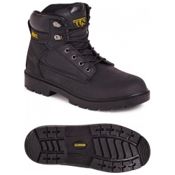 Worksite SS618SM Unisex 6 Eyelet Safety Boot Black
