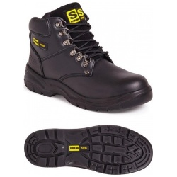 Sterling Steel SS806SM Unisex 6 Eye Hiker S1P SRC Boot Black