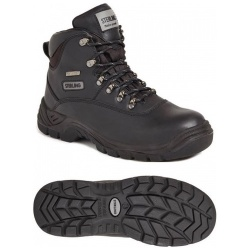 Sterling Steel SS812SM Unisex Waterproof Safety Hiker Black