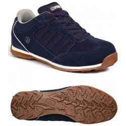 Apache Workwear Strike Suede Retro Safety Trainer Navy