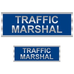 Traffic Marshal Reflective Badge (Front & Back)