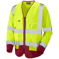 Hi Vis Class 3 Superior Sleeved Waistcoat Yellow / Red