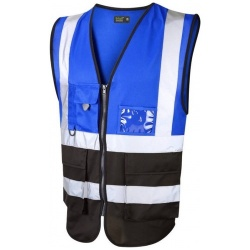 Urban54 Hi Vis Superior Waistcoat Royal Blue / Black