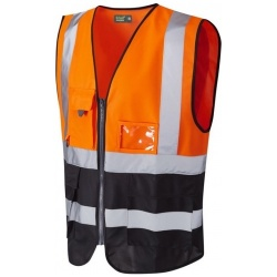 Urban54 Hi Vis Superior Waistcoat Orange / Black