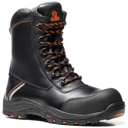 V12 Footwear E1300 Defiant Black High Leg Zip Safety Boot