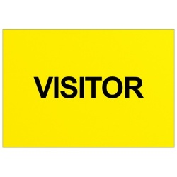 Visitor Text Badge (Back only)