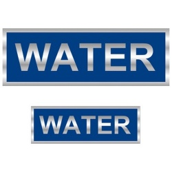 Water Reflective Badge (Front & Back)