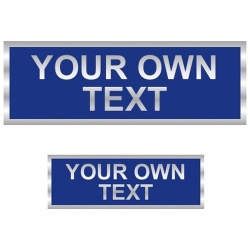 Your Own Text Reflective Badges Front and Back