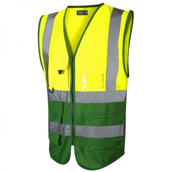 Urban54 Hi Vis Superior Vest Yellow / Emerald Green